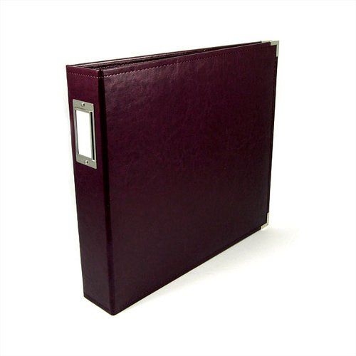 We R Memory Keepers - Classic Leather - 8.5x11 - Three Ring Albums - Burgundy