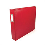 We R Memory Keepers - Classic Leather - 8.5x11 - Three Ring Albums - Real Red