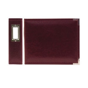 We R Memory Keepers - Classic Leather - 6x6 - Three Ring Albums - Burgundy