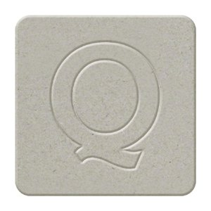 We R Memory Keepers - Raw Goods Collection - Chipboard Letter Squares - Uppercase Alphabet - Letter Q