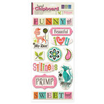 We R Memory Keepers - Tiffanys Collection - Self Adhesive Layered Chipboard with Glitter - Words, CLEARANCE