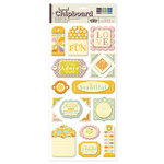 We R Memory Keepers - Madame Royale Collection - Self Adhesive Layered Chipboard with Glitter - Tags