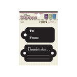 We R Memory Keepers - Madame Royale Collection - Clear Acrylic Stamps - Tags, CLEARANCE
