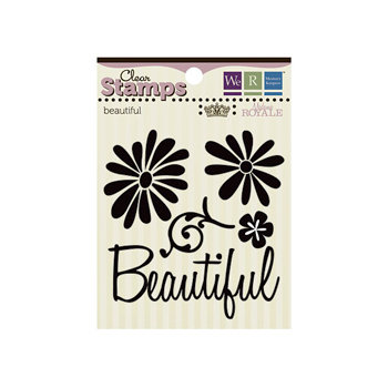 We R Memory Keepers - Madame Royale Collection - Clear Acrylic Stamps - Beautiful