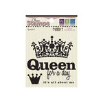 We R Memory Keepers - Madame Royale Collection - Clear Acrylic Stamps - Queen