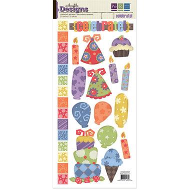 We R Memory Keepers - Embossible Designs - Embossed Cardstock Stickers - Celebrate