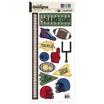 We R Memory Keepers - Embossible Designs - Embossed Cardstock Stickers - Gameday