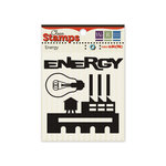 We R Memory Keepers - GeoHectic Collection - Clear Acrylic Stamps - Energy