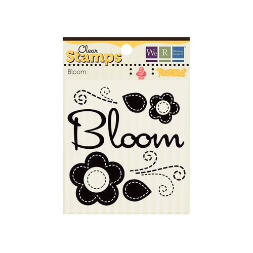 We R Memory Keepers - Twirl Collection - Clear Acrylic Stamps - Bloom