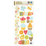We R Memory Keepers - Twirl Collection - Embossed Cardstock Stickers