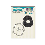 We R Memory Keepers - Vintage Blue Collection - Clear Acrylic Stamps - Flower