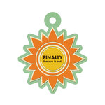 We R Memory Keepers - 72 and Sunny Collection - Embossed Tags - Sunny Day, CLEARANCE