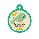 We R Memory Keepers - 72 and Sunny Collection - Embossed Tags - Sunshine, BRAND NEW