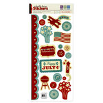 We R Memory Keepers - Old Glory Collection - Embossed Cardstock Stickers