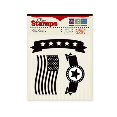 We R Memory Keepers - Old Glory Collection - Clear Acrylic Stamps - Old Glory
