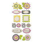 We R Memory Keepers - Retro Glam Collection - Self Adhesive Layered Chipboard - Tags