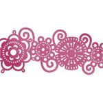 We R Memory Keepers - Retro Glam Collection - Self Adhesive Glitter Lace - Brocade