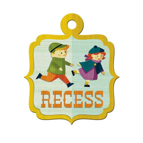 We R Memory Keepers - Show and Tell Collection - Embossed Tags - Recess, CLEARANCE
