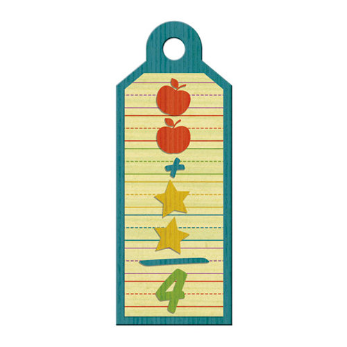 We R Memory Keepers - Show and Tell Collection - Embossed Tags - Arithmetic, CLEARANCE