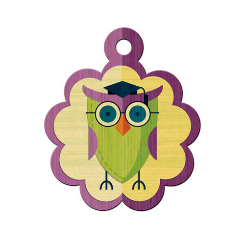 We R Memory Keepers - Show and Tell Collection - Embossed Tags - Wise Owl