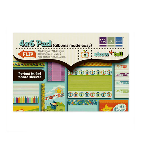 We R Memory Keepers - Show and Tell Collection - 4 x 6 Albums Made Easy Pad, BRAND NEW