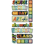 We R Memory Keepers - Show and Tell Collection - Self Adhesive Layered Chipboard - Words