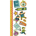 We R Memory Keepers - Show and Tell Collection - Embossed Cardstock Stickers