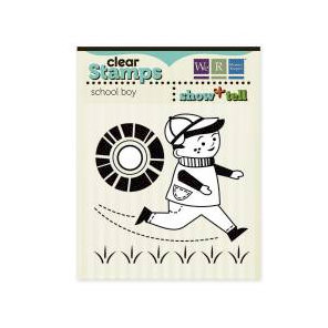 We R Memory Keepers - Show and Tell Collection - Clear Acrylic Stamps - School Boy