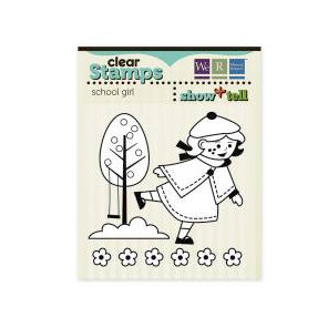 We R Memory Keepers - Show and Tell Collection - Clear Acrylic Stamps - School Girl