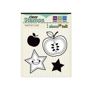We R Memory Keepers - Show and Tell Collection - Clear Acrylic Stamps - Teachers Pet