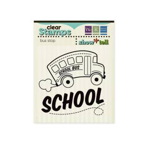 We R Memory Keepers - Show and Tell Collection - Clear Acrylic Stamps - Bus Stop