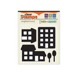 We R Memory Keepers - Out and About Collection - Clear Acrylic Stamps - Neighborhood