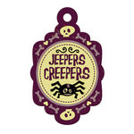 We R Memory Keepers - Heebie Jeebies Collection - Halloween - Embossed Tags - Jeepers Creepers, CLEARANCE