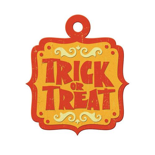 We R Memory Keepers - Heebie Jeebies Collection - Halloween - Embossed Tags - Trick or Treat, CLEARANCE