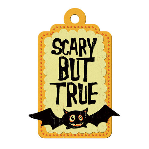 We R Memory Keepers - Heebie Jeebies Collection - Halloween - Embossed Tags - Scary But True, CLEARANCE