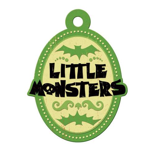 We R Memory Keepers - Heebie Jeebies Collection - Halloween - Embossed Tags - Little Monsters, CLEARANCE