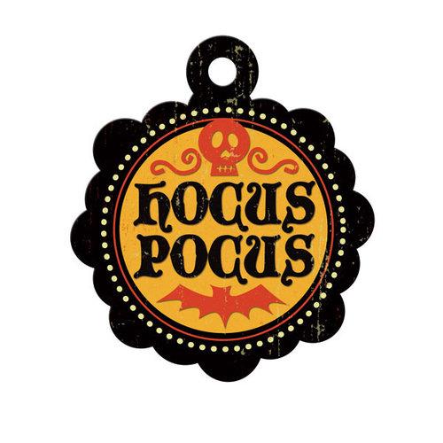 We R Memory Keepers - Heebie Jeebies Collection - Halloween - Embossed Tags - Hocus Pocus, CLEARANCE