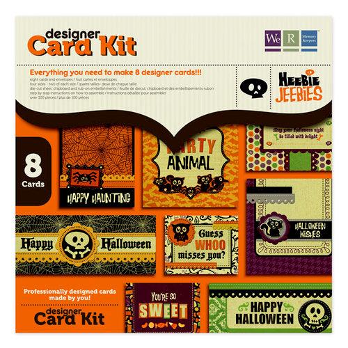 We R Memory Keepers - Heebie Jeebies Collection - Halloween - Designer Card Kit