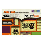We R Memory Keepers - Heebie Jeebies Collection - Halloween - 4 x 6 Albums Made Easy Pad, CLEARANCE