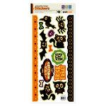We R Memory Keepers - Heebie Jeebies Collection - Halloween - Embossed Cardstock Stickers, CLEARANCE