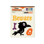 We R Memory Keepers - Heebie Jeebies Collection - Halloween - Clear Acrylic Stamps - Raven
