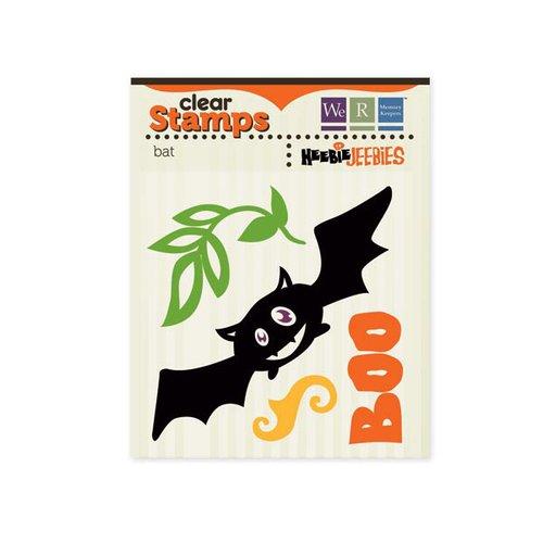 We R Memory Keepers - Heebie Jeebies Collection - Halloween - Clear Acrylic Stamps - Bat