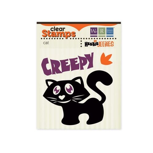 We R Memory Keepers - Heebie Jeebies Collection - Halloween - Clear Acrylic Stamps - Cat