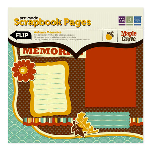 We R Memory Keepers - Maple Grove Collection - 12 x 12 Pre-made Scrapbook Pages - Autumn Memories