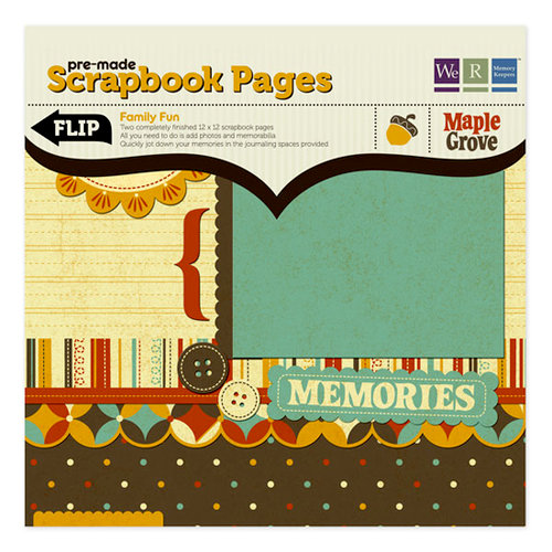 We R Memory Keepers - Maple Grove Collection - 12 x 12 Pre-made Scrapbook Pages - Family Fun