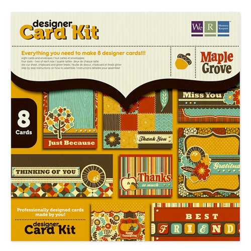 We R Memory Keepers - Maple Grove Collection - Designer Card Kit