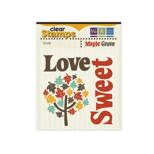 We R Memory Keepers - Maple Grove Collection - Clear Acrylic Stamps - Love