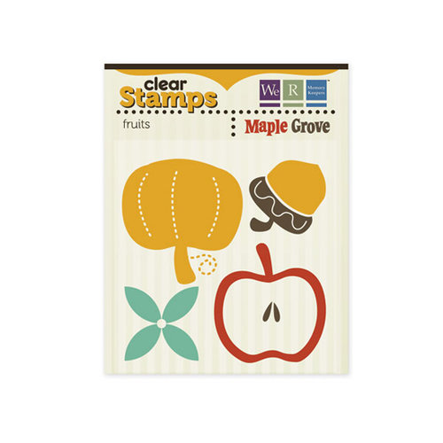 We R Memory Keepers - Maple Grove Collection - Clear Acrylic Stamps - Fruits