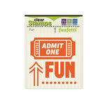 We R Memory Keepers - Funfetti Collection - Clear Acrylic Stamps - Fun