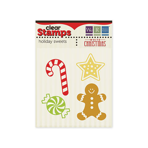 We R Memory Keepers - White Christmas Collection - Clear Acrylic Stamps - Holiday Sweets